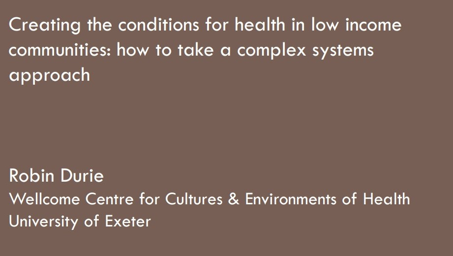 creating health - complex systems slide